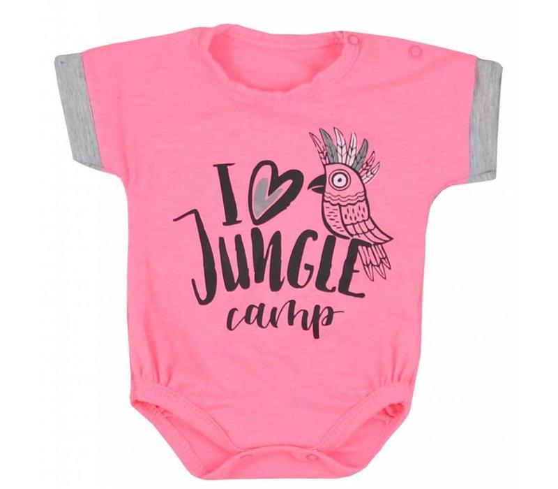 Baby rompertje - Ara -roze
