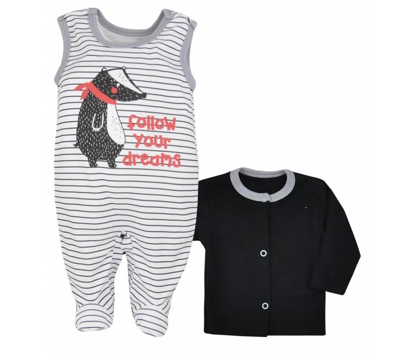 2-delige babykleding set Bora - wit
