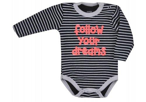 Baby rompertje met lange mouw Bora- zwart