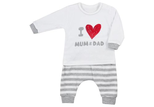 2-delig Katoen babykledingsetje   Mum & Dad