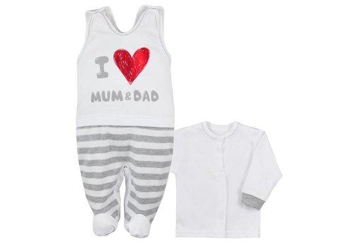 Katoen babykledingsetje   Mum & Dad