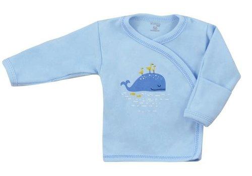 Overslagshirtje Happy Baby - blauw