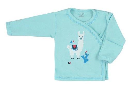 Overslagshirtje Happy Baby - turquoise