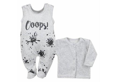 2-delige babykleding set Oops - gemeleerd