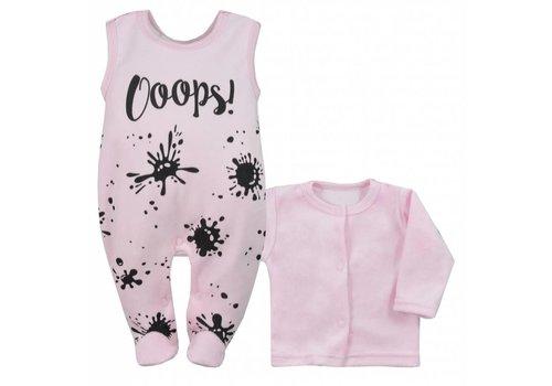 2-delige babykleding set Oops - roze