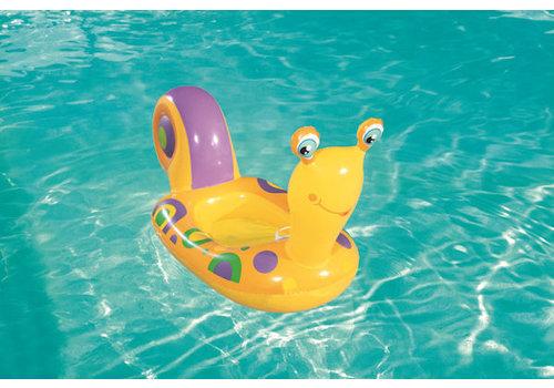 Opblaasbaar Kinderbootje slak - 163cm - geel