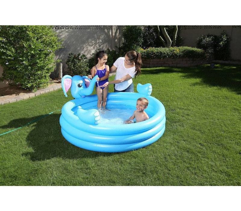 Opblaasbaar kinderzwembad met sproeier
