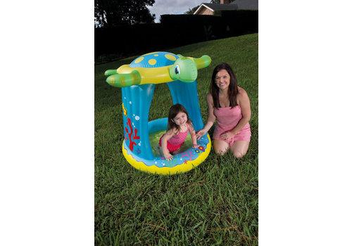 Opblaasbaar baby zwembad met top
