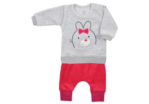 2-delige velours babykleding set Baloo - rood