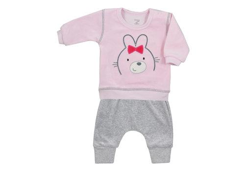 2-delige velours babykleding set Baloo - roze