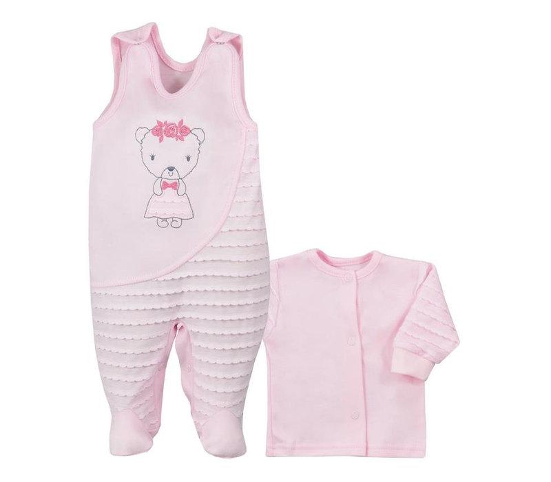 2-delige babykleding set Dominica - roze