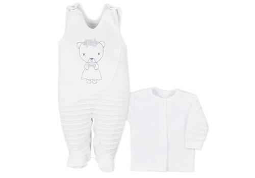 2-delige babykleding set Dominica - wit