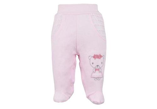 Baby broekje met voetjes Dominica - roze