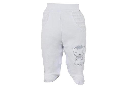 Baby broekje met voetjes Dominica - wit