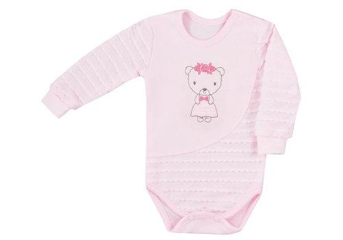 Baby rompertje Dominica met lange mouw - roze