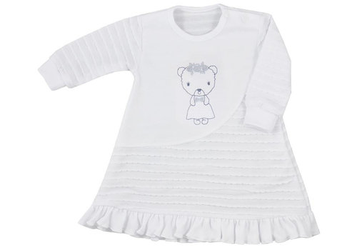 Baby jurkje Dominica met lange mouw - wit