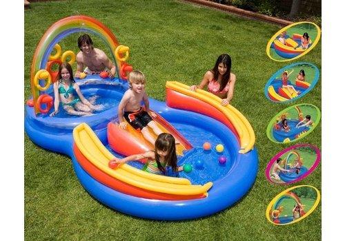 Opblaasbaar speelzwembad Regenboog