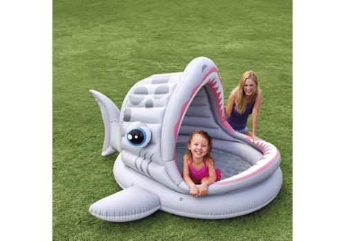 Opblaasbaar speelzwembad in vis vorm