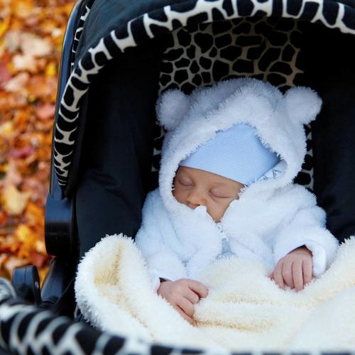 Baby's dutje in de kinderwagen