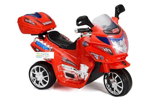 Elektrische kindermotor Little biker - rood