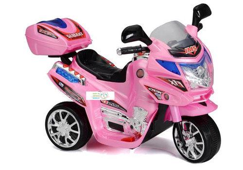 Elektrische kindermotor Little biker - roze