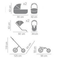 Tweeling kinderwagen - Diamond Duo Slim 08