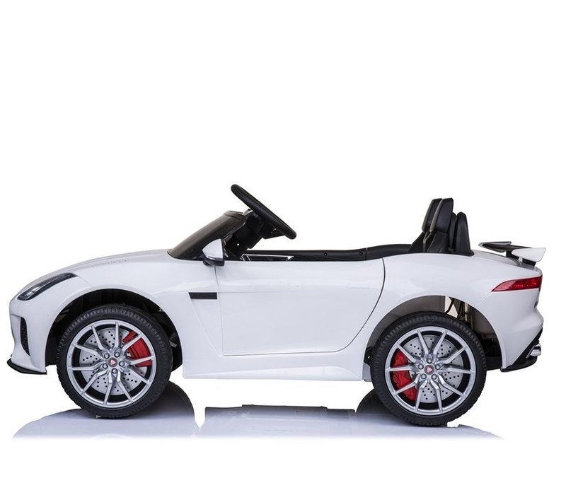 Elektrische kinderauto met accu - Jaguar F-Type wit