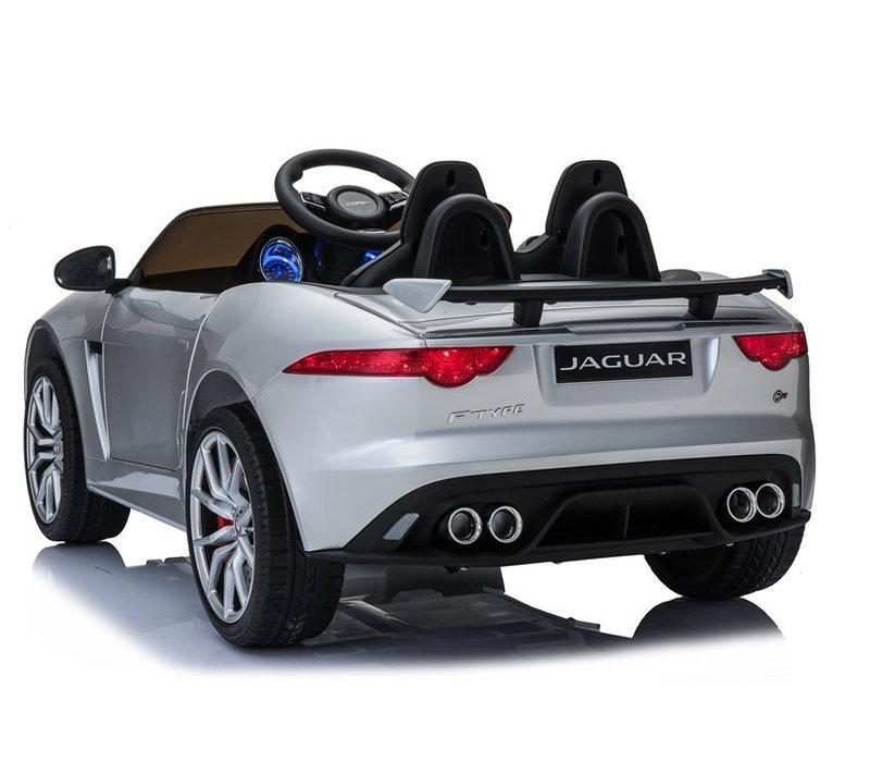 Elektrische kinderauto met accu - Jaguar F-Type zilver
