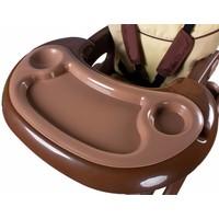 Kinderstoel Primus bruin is een leuke meegroeistoel