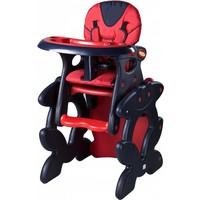 Kinderstoel Primus rood is een leuke meegroeistoel