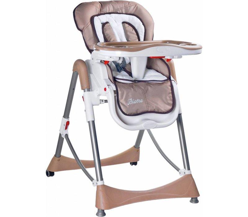 Kinderstoel Bistro donker beige is in leuke kleuren te verkrijgen