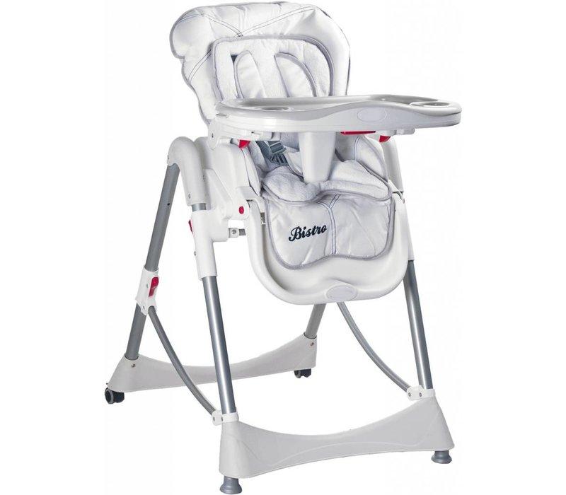 Kinderstoel Bistro wit is in leuke kleuren te verkrijgen