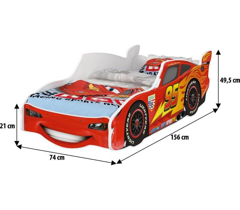 Compleet Disney autobed Lightning McQueen & gratis matras