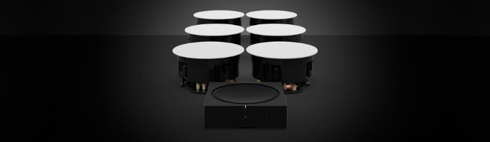 Sonos speakers met amp
