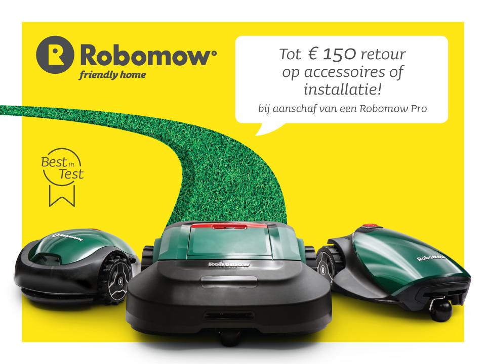 Robomow cashback actie