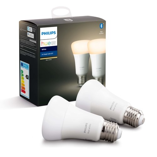 Philips Hue Standaardlamp - warmwit licht - 2 pack
