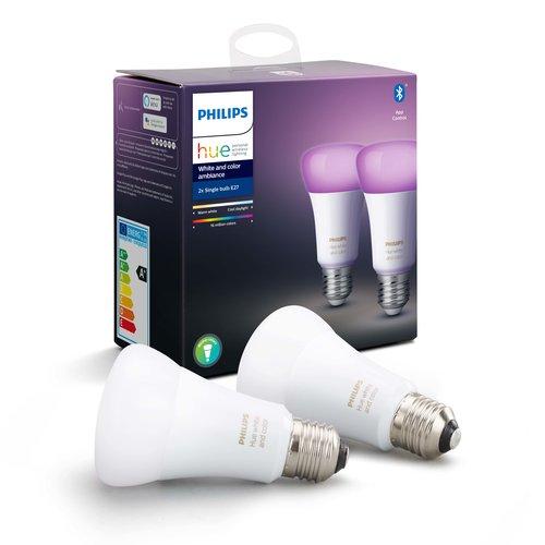 Philips Hue Standaardlamp - wit en gekleurd licht - 2 pack