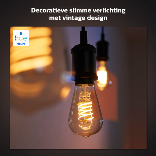 Philips Hue Decoratieve edisonlamp - warmwit licht
