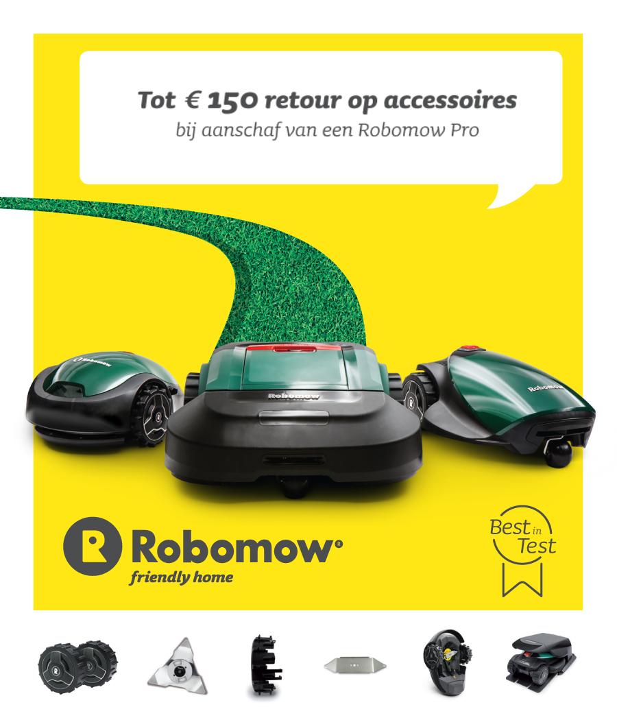 robomow cashback actie 2020