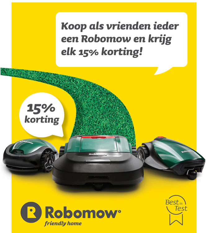 robomow kortingsactie