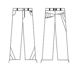 Boy pants blue