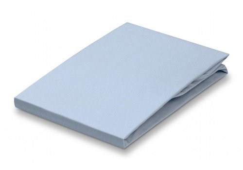Vandyck Fitted Sheet Chambray Blue-066 (percale cotton) 160x200 cm