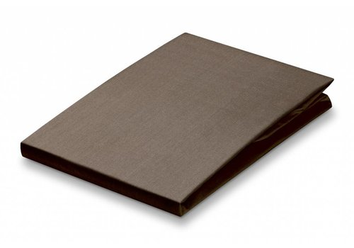 Vandyck Fitted sheet Taupe-017 (percale cotton)