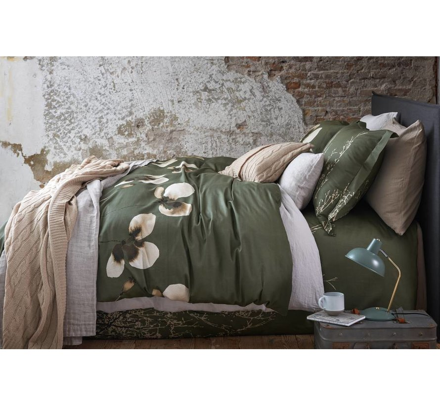 DAILY duvet cover 140x220 cm Olive-113 (sateen cotton)