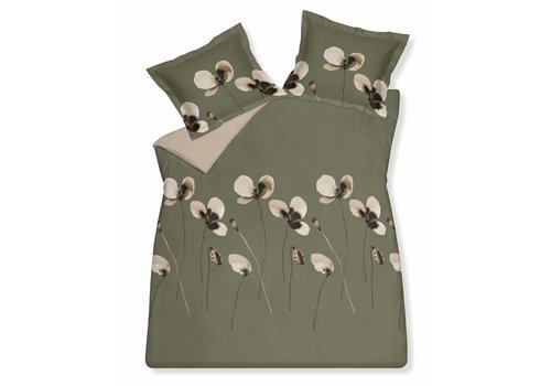 Vandyck DAILY duvet cover 240x220 cm Olive-113 (sateen cotton)