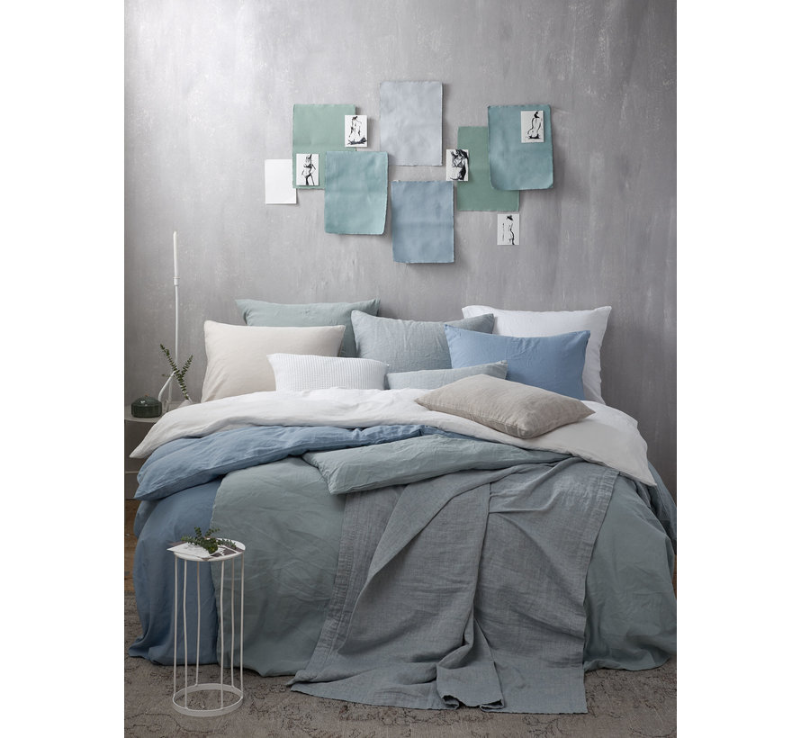 Duvet cover PURE 32 Dusty Blue 200x220 cm (linen / cotton) PRSA19132