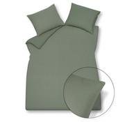 Vandyck Duvet cover PURITY 79 Olive 200x220 cm (linen / cotton)