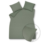 Vandyck Duvet cover PURITY 79 Olive 240x220 cm (linen / cotton)