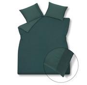 Vandyck Duvet cover PURE 07 Dark Green 200x220 cm (linen / satin cotton)