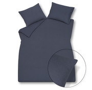 Vandyck Duvet cover PURITY 79 Nightblue 140x220 cm (linen / cotton)